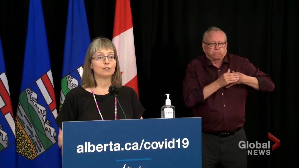 Click to play video: 'Top doctor says Alberta is monitoring reports of rare condition possibly linked to mRNA COVID-19 vaccines'