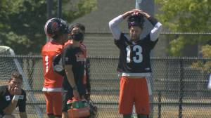 BC Lions Q.B. Michael Reilly dealing with arm pain (01:45)
