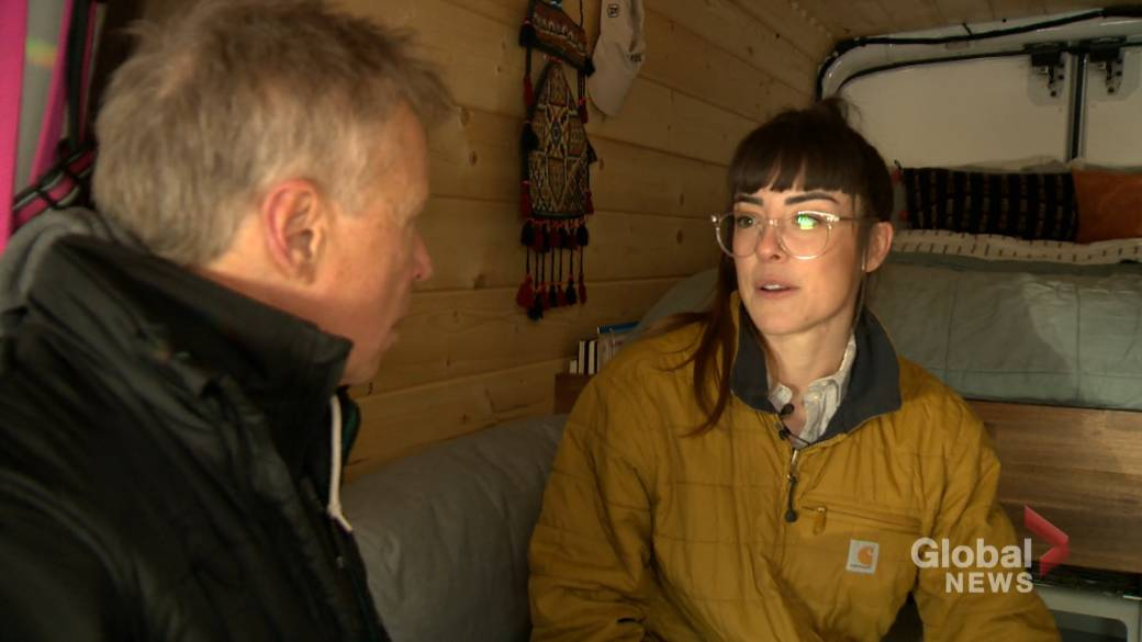 Calgary athlete who lives in her van shivers through cold snap: 'This is the worst!'