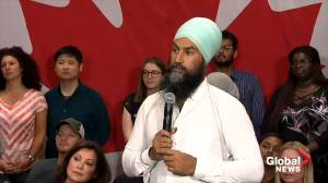 NDP leader Jagmeet Singh comments on Trudeau 'brownface' photo from 2001