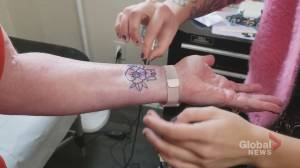 Proceeds from poppy tattoos donated to Royal Canadian Legion in Lindsay (00:38)