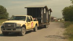 Moses Lake community receives 5 tiny homes to help homeless population