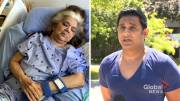 Play video: Son of CHSLD patient in Pointe-aux-Trembles upset mother is not receiving medication