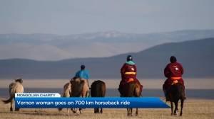Vernon woman goes on 700 km horseback ride (01:48)