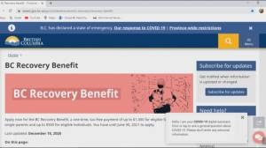 Thousands applying for B.C. Recovery Benefit crash government website (01:49)