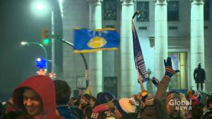 Grey Cup: Fans celebrating in streets of Winnipeg over Blue Bombers win
