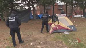 Montreal fire department orders evacuation of the Notre-Dame homeless camp (01:51)