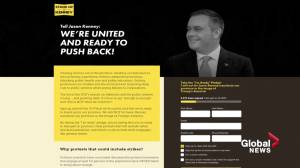 Alberta union leaders launch 'Stand up to Kenney' protest website against UCP government (01:45)