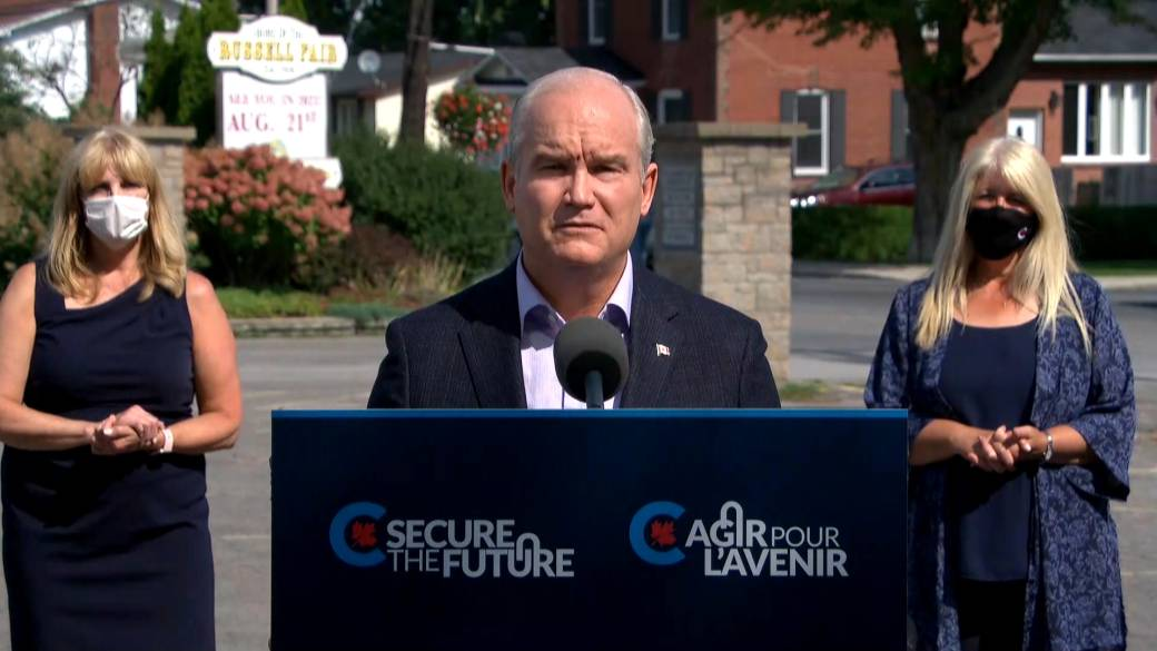 Click to play video: 'Canada election: O'Toole promises to respect Quebec's 'distinct system' when it comes to child-care'