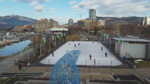 Kelowna's Stuart Park outdoor rink reopening branded a success (01:37)