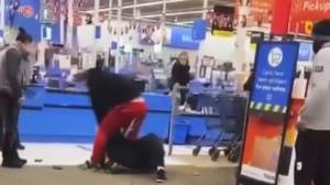 Video appears to show Dawson Creek Walmart employee assaulted after asking someone to wear a mask (00:42)