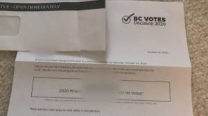 Strange election letter arriving in B.C. mailboxes (01:50)