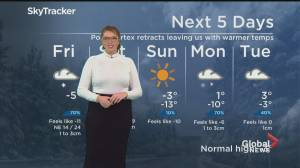 Global News Morning weather forecast: February 19, 2021 (01:38)
