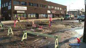 Edmonton water main break floods businesses