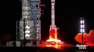 China launches 2nd crewed mission to build space station (00:27)