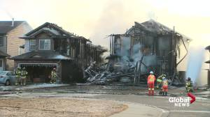 'Busy past few weeks' for Edmonton firefighters as flames gut 2 more homes on Tuesday (01:52)