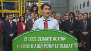 Federal Election 2019: Trudeau commits Canada to reach net-zero carbon emissions by 2050 (01:08)