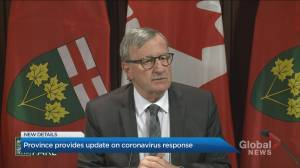 Ontario health officials update on coronavirus response