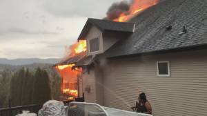 Fire in Lake Country, B.C., destroys home