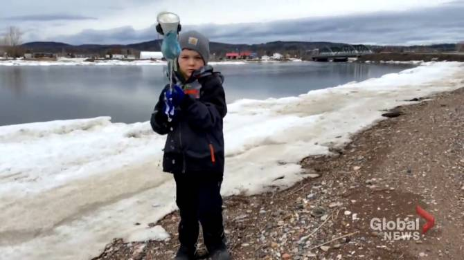 Click to play video: Four-year-old N.B. boy has mission to protect the planet