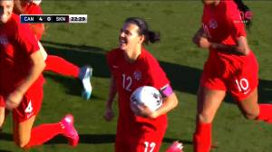 Canadian Christine Sinclair breaks international soccer record with 185th goal