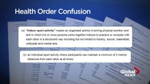 Sports groups confused by Alberta temporary restrictions (01:46)