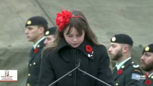 No Stone Left Alone: Student at Edmonton school reads reflection letter to fallen Canadian soldier