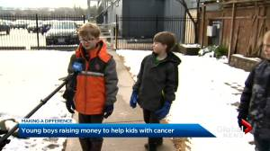 Four little boys on mission to raise $5K for charity (02:50)
