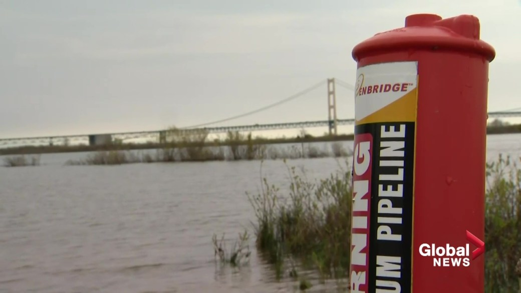 Click to play video: 'Enbridge defies Michigan order, plans to continue operating Line 5'