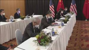 Heated exchanges between U.S. and China at meeting (01:50)