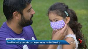 Toronto families face decision on in-person vs. online learning (02:11)