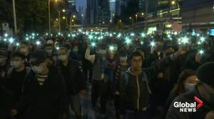 Hundreds of thousands take part in torchlight rally in Hong Kong
