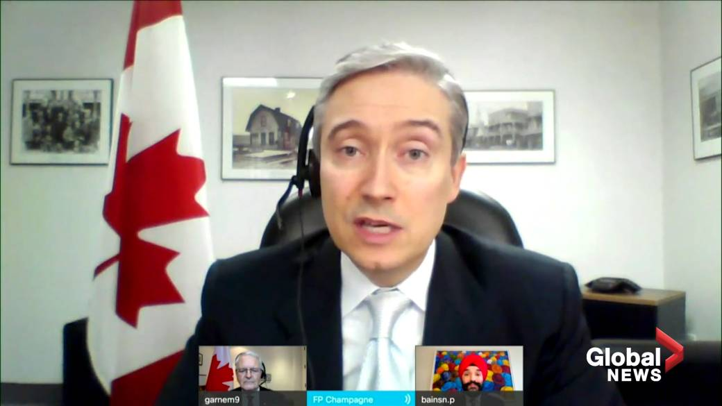 Click to play video 'Champagne, Garneau say they were never asked by PM if they're running for re-election in a potential 2021 federal election'