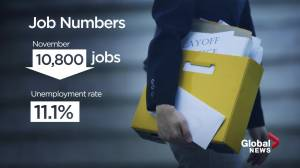 Alberta economy sheds 10,800 jobs in November (01:51)