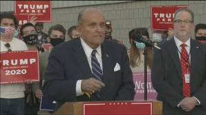 U.S. election: Giuliani claims Biden voted multiple times, does not provide proof (03:19)