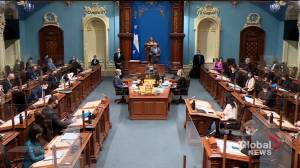 COVID-19: Quebec passes law to restrict anti-vaccine protests (01:34)