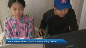 Concerns grow over virtual school with students falling behind (04:56)