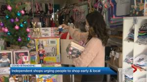 Coronavirus: Customers asked to shop local for Christmas (02:33)