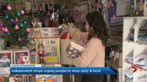 Coronavirus: Customers asked to shop local for Christmas (02:33)