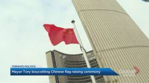 Mayor Tory to boycott China flag raising at Toronto City Hall