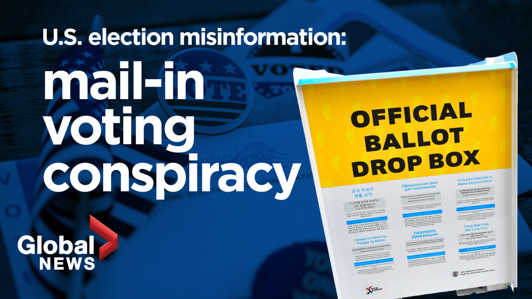 Click to play video 'US election misinformation: How foreign interference, voter fraud conspiracies could affect the polls'