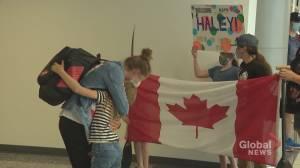 Calgary Canoeist Haley Daniels returns home after Olympic milestone (02:02)
