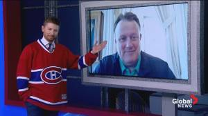 Paul Brothers loses bet to Mayor Savage, wears Habs jersey for interview (05:43)