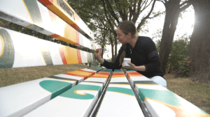 Shocking discovery for woman fighting Vancouver Park Board over painted memorial bench