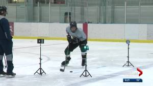 Edmonton hockey tryouts go high-tech with analytics electronics