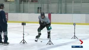 Edmonton hockey tryouts go high-tech with analytics electronics