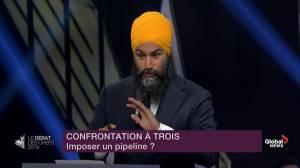 Leaders' Debate: Singh calls Bernier, Scheer 'Mr. Pipeline, and Mr. Pipeline, too'