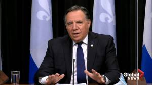 Coronavirus: Quebec premier reminds residents they're not allowed home visits, says police are ready to give out fines (01:19)
