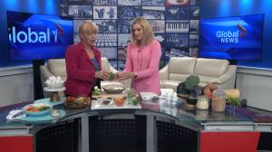 Registered Dietitian Carol Harrison  visits Global News Morning