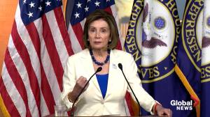 Pelosi says 'evidence is clear' Trump used office for personal gain